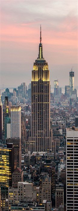 Фотообои DIVINO DECOR A-086 Небоскребы Нью-Йорка 100х270см - фото 11122