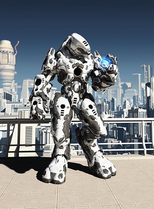 Фотообои DIVINO DECOR A-074 Робот 200х270см - фото 11639