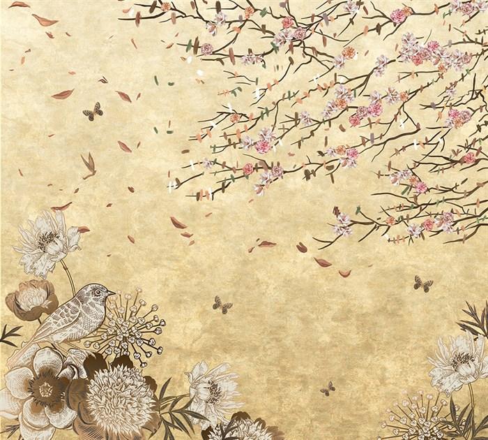 Фотообои DIVINO DECOR T-062 Винтажные цветы 300х270см - фото 12785