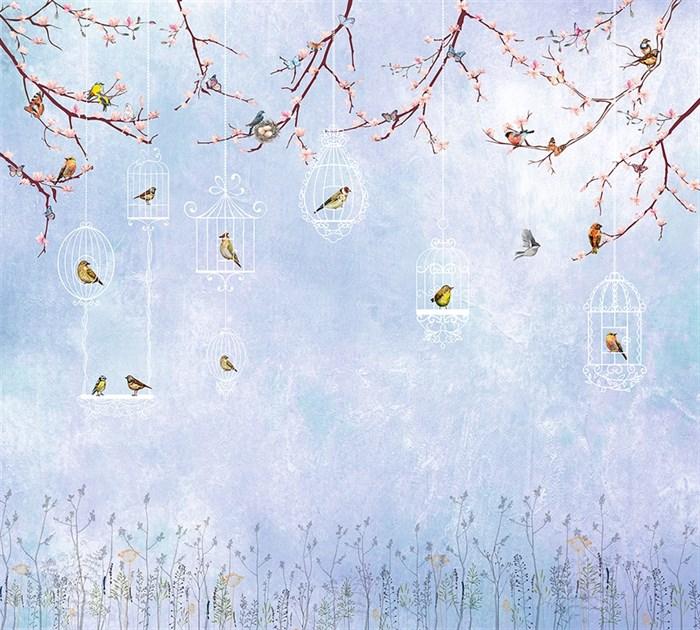 Фотообои DIVINO DECOR T-197 Птичьи клетки 300х270см