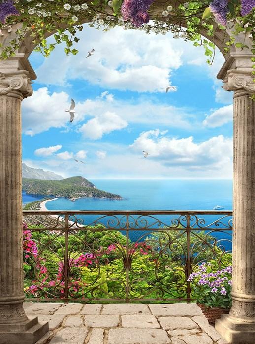 Фотообои DIVINO DECOR T-023 Балкон с видом на море 200х270см - фото 14803