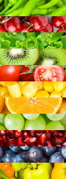 Фотообои DIVINO DECOR B-040 Фрукты и овощи 100х270см - фото 15730