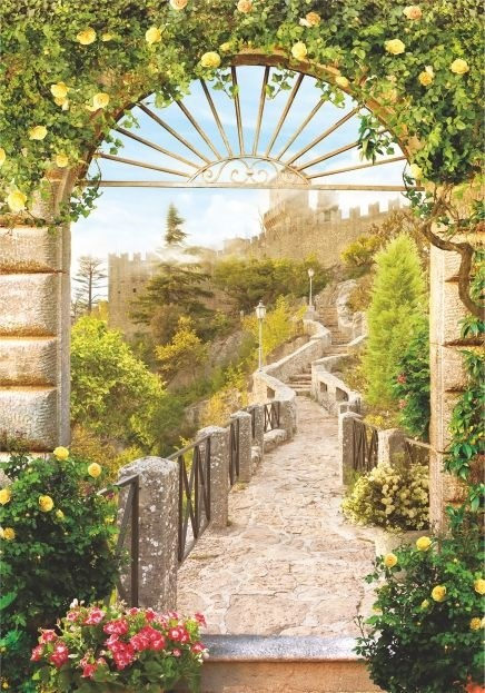 ФОТООБОИ BELLISSIMO B-028 Весна в Греции 140х200 см Симфония - фото 15937