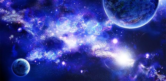 Фотообои DIVINO DECOR B-082 Космические фракталы 300х147см - фото 16198
