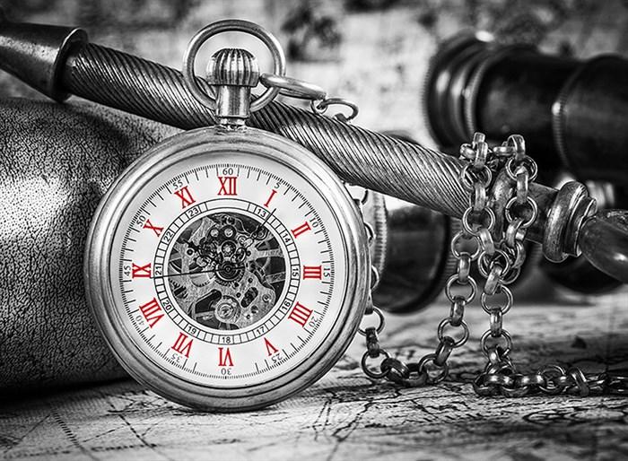 Фотообои DIVINO DECOR C-333 Часы чб  200х147см - фото 16613