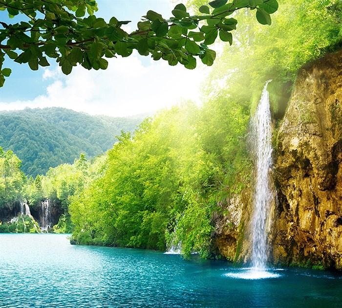 Фотообои DIVINO DECOR C-093 Высокий водопад 300х270см - фото 18066