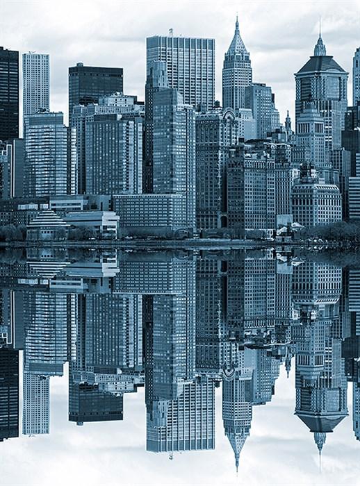 Фотообои DIVINO DECOR D-041 Отражение города 200х270см - фото 18998