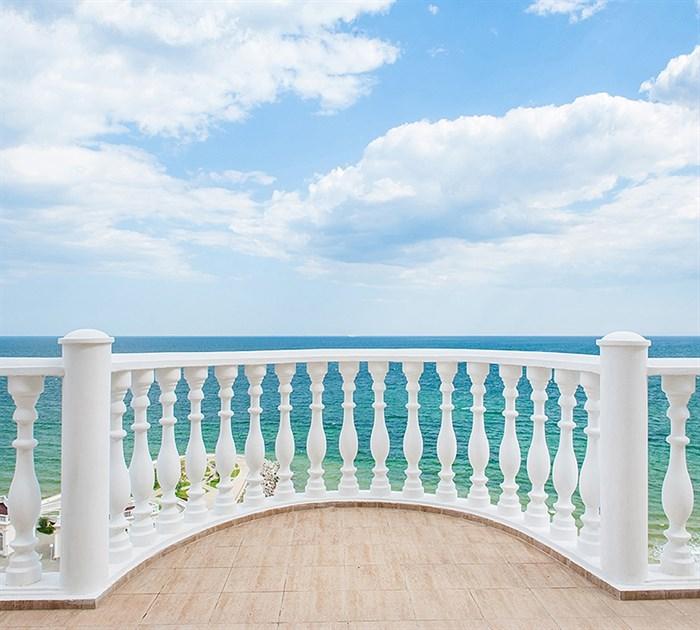Фотообои DIVINO DECOR D-040 Балкон с видом на океан 300х270см - фото 19387