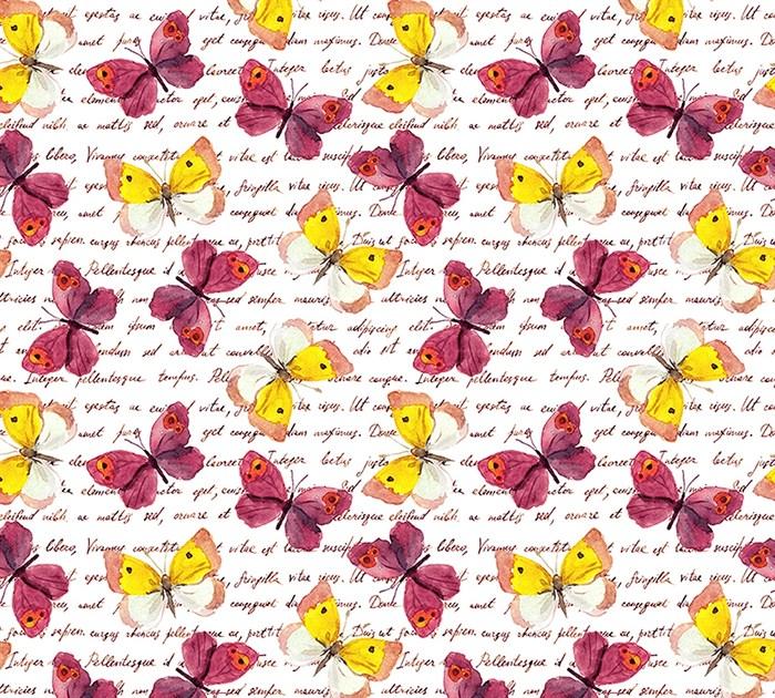 Фотообои DIVINO DECOR D-037 Бабочки принт 300х270см - фото 19531