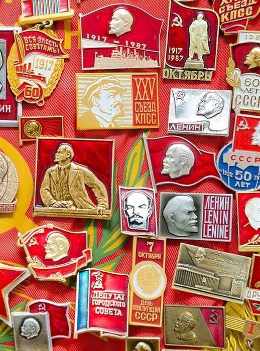 Фотообои DIVINO DECOR D-106 Значки советские 200х270см - фото 19639