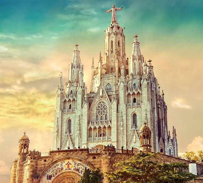 Фотообои DIVINO DECOR C-089 Церковь в Барселоне 300х270см - фото 19792