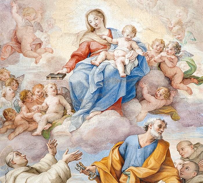 Фотообои DIVINO DECOR C-045 Пресвятая Дева Мария фреска 300х270см - фото 19936