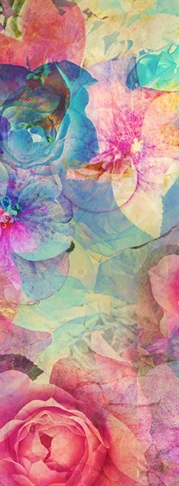 Фотообои DIVINO DECOR D-112 Фон принт цветы 100х270см - фото 19981