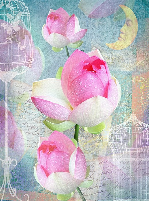 Фотообои DIVINO DECOR D-111 Сказочный цветок 200х270см - фото 20026