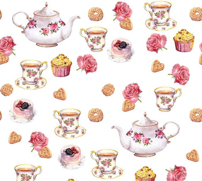 Фотообои DIVINO DECOR E-078 Чай с пирожными 300х270см - фото 20405