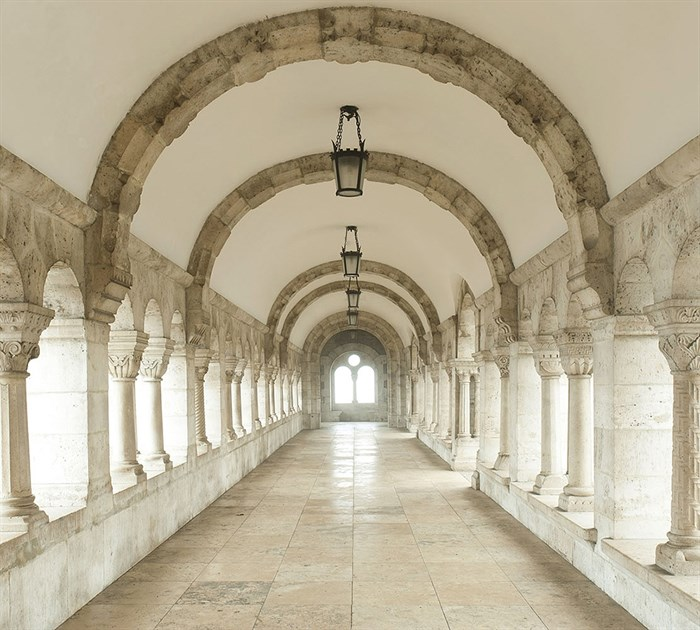 Фотообои DIVINO DECOR E-012 Белый коридор 300х270см - фото 20432