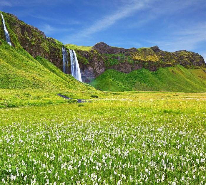 Фотообои DIVINO DECOR E-065 Прекрасный водопад 300х270см - фото 21019