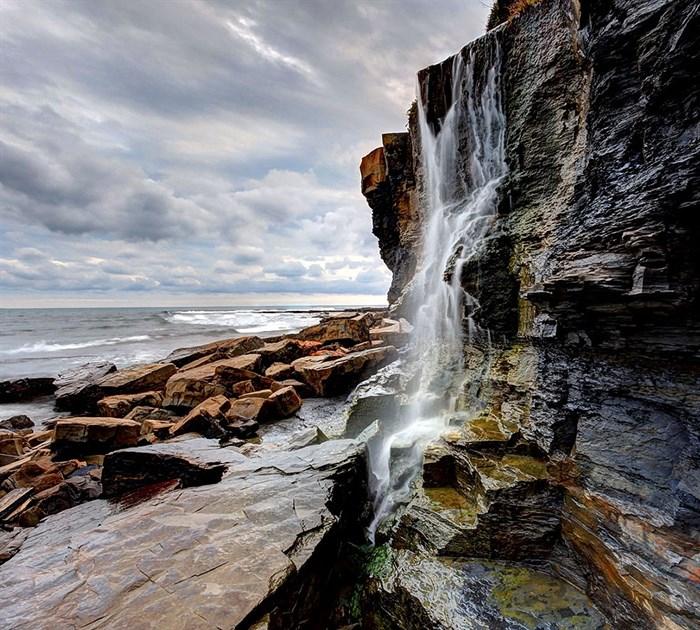 Фотообои DIVINO DECOR E-014 Водопад в камнях 300х270см - фото 21109