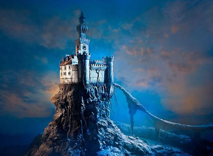 Фотообои DIVINO DECOR E-037 Замок на скале 200х147см - фото 21190