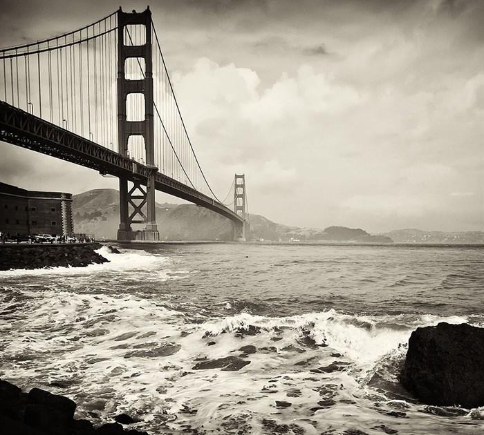Фотообои DIVINO DECOR E-019 Мост и пена 300х270см - фото 21328