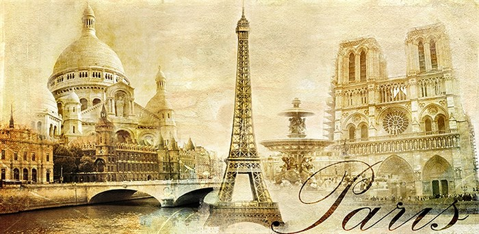Фотообои DIVINO DECOR C-341 Париж винтаж 300х147см - фото 21500