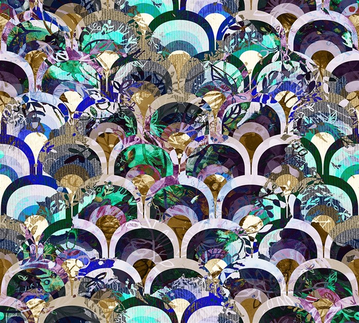 Фотообои DIVINO DECOR H-079 Фиолетовый принт 300х270см - фото 22120