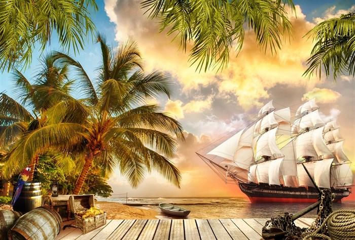 Фотообои DIVINO DECOR H-053 Остров пиратов 400х270см - фото 22341