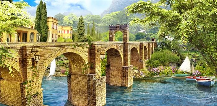 Фотообои DIVINO DECOR K-024 Старинный мост 300х147см - фото 22540