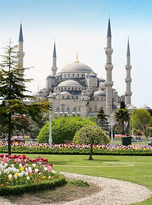 Фотообои DIVINO DECOR C-200 Стамбул. Голубая мечеть 200х270см - фото 23061