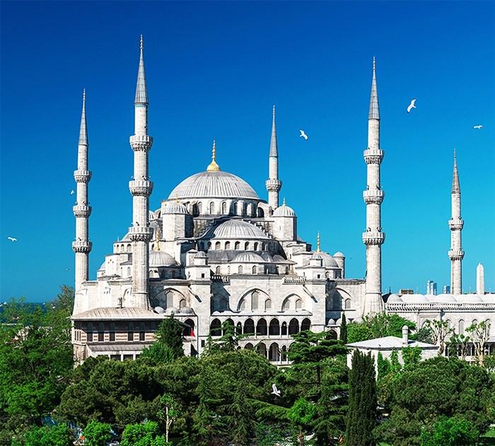 Фотообои DIVINO DECOR C-172 Стамбул. Голубая мечеть 300х270см - фото 23196