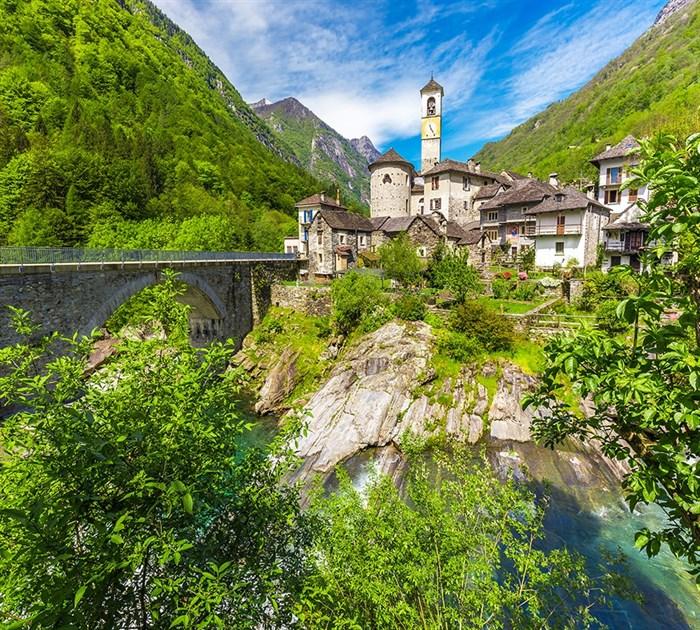 Фотообои DIVINO DECOR K-025 Швейцария деревня 300х270см - фото 23430