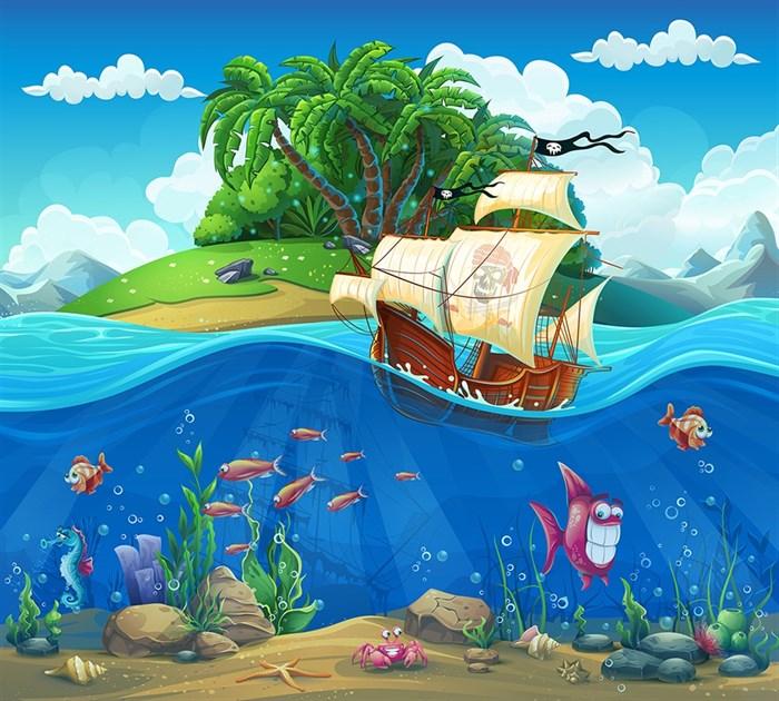 Фотообои DIVINO DECOR K-043 Пираты у острова 300х270см - фото 23448