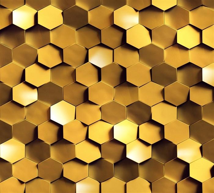 Фотообои DIVINO DECOR K-010 Золото на стене 300х270см - фото 23512