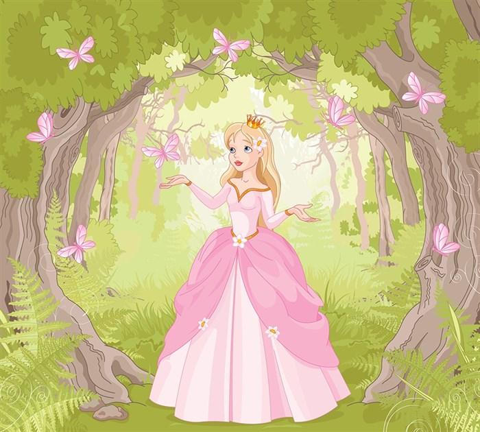 Фотообои DIVINO DECOR L-101 Принцесса и бабочки 300х270см - фото 23831
