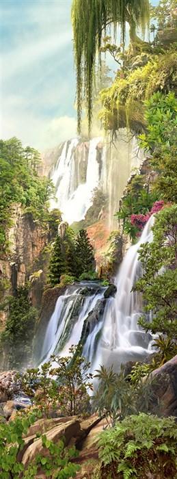 Фотообои DIVINO DECOR K-049 Водопады на горе 100х270см - фото 23972