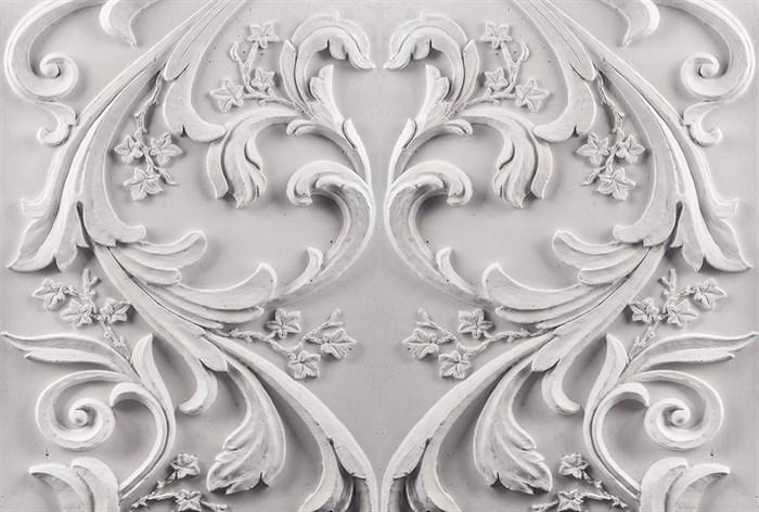 Фотообои DIVINO DECOR K-003 Барельеф цветочный орнамент 400х270см - фото 23999