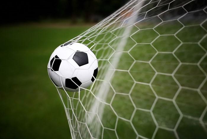 Фотообои DIVINO DECOR L-100 Футбольный мяч в воротах 400х270см - фото 24579