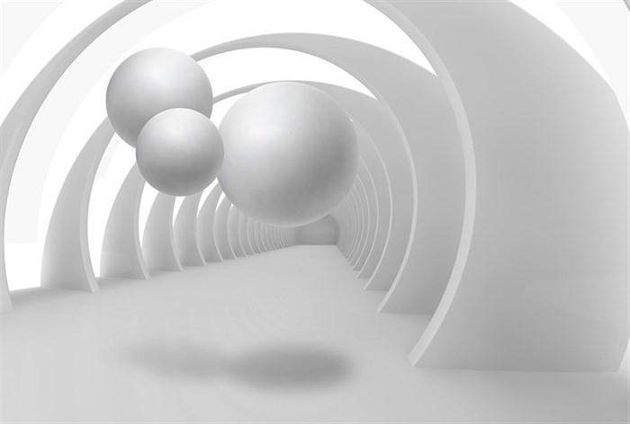 Фотообои DIVINO DECOR L-053 Шары в туннеле 400х270см - фото 24654
