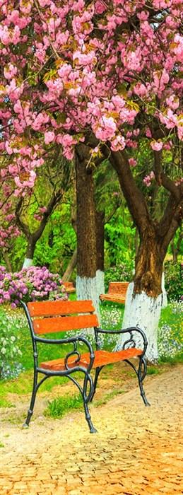 Фотообои DIVINO DECOR L-036 Вишневый сад 100х270см - фото 24799