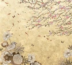 Фотообои DIVINO DECOR T-062 Винтажные цветы 300х270см