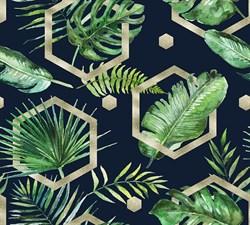 Фотообои DIVINO DECOR T-177 Пальмовые листья акварель 300х270см