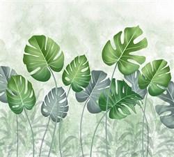 Фотообои DIVINO DECOR T-244 Тропические листья 300х270см