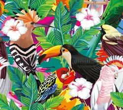 Фотообои DIVINO DECOR T-246 Тропические птицы 300х270см