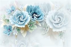 Фотообои DIVINO DECOR T-035 Большие голубые цветы 400х270см