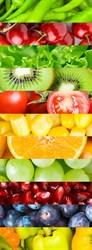 Фотообои DIVINO DECOR B-040 Фрукты и овощи 100х270см