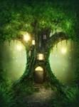 Фотообои DIVINO DECOR A-022 Сказочное дерево 200х270см - фото 10948