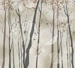 Фотообои DIVINO DECOR T-048 Ветви деревьев фон 300х270см - фото 12757