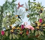 Фотообои DIVINO DECOR T-195 Птицы в тропиках 300х270см - фото 13683