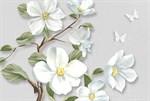 Фотообои DIVINO DECOR T-033 Белые цветы на ветке 400х270см - фото 13773