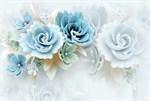 Фотообои DIVINO DECOR T-035 Большие голубые цветы 400х270см - фото 13782